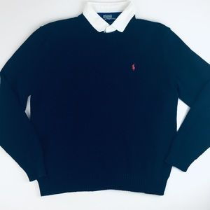 Polo Ralph Lauren Blue Crewneck Sweater GUC Large